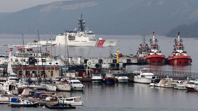 """GÜNCELLEME - ABD sahil güvenlik gemisi """"USCGC Hamilton"""" Çanakkale Boğazı'ndan Marmara'ya açıldı"""