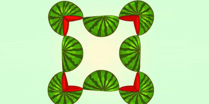 Zekanızı test edebileceğiniz ilginç mantık sorusu! Resimde kaç karpuz görüyorsunuz?