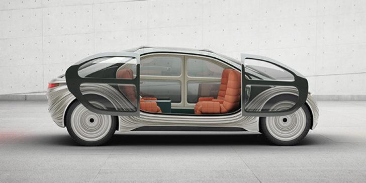 İşte havayı temizleyen sürücüsüz otomobil! Çift kişilik yatağı bile var