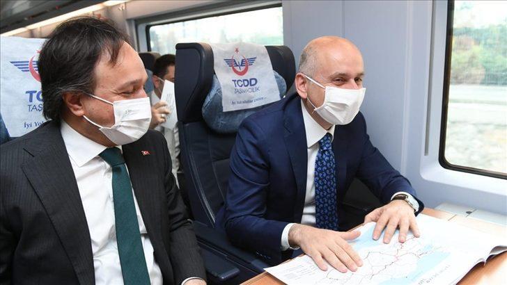 Bakan Karaismailoğlu, Konya-Karaman YHT Hattı'nın test sürüşünü yaptı
