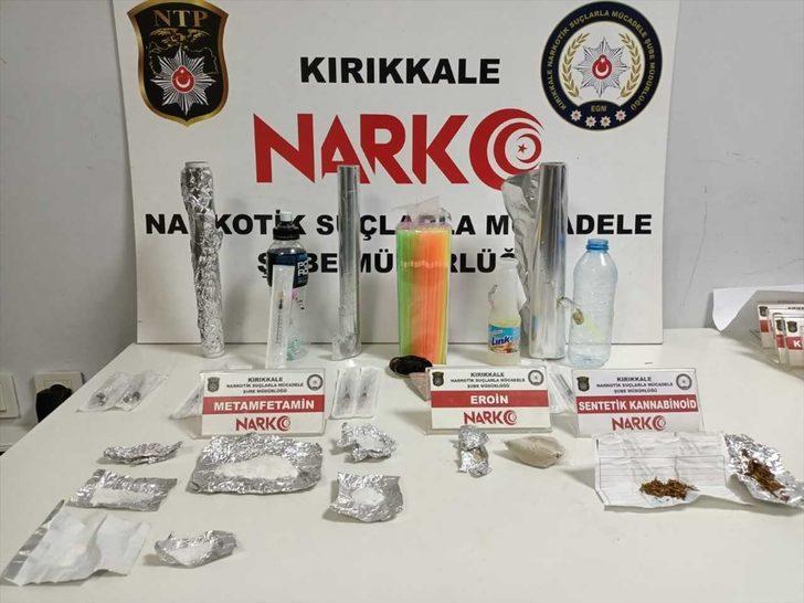 Kırıkkale'de uyuşturucu operasyonunda 4 şüpheli gözaltına alındı