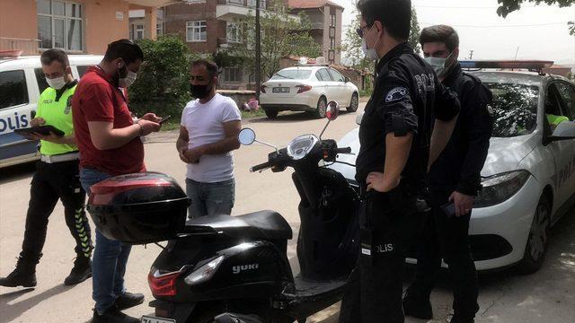 """Kırıkkale'de """"tam kapanma""""yı ihlal edenler için """"şok denetim"""" uygulaması"""