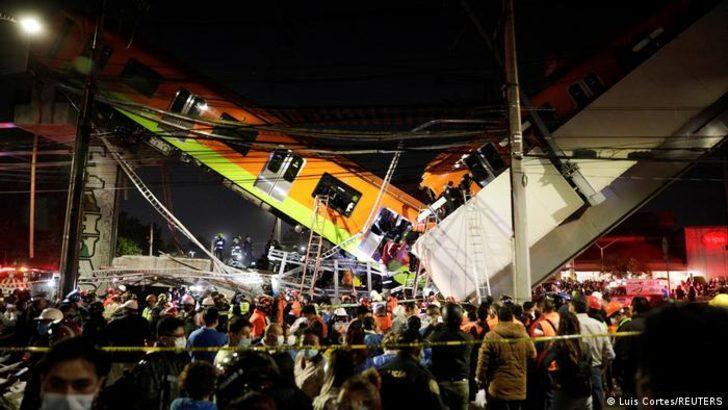 Meksika'da metro köprüsü çöktü: 15 ölü