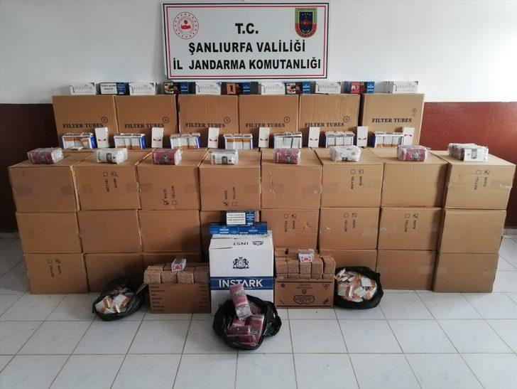 Şanlıurfa'da bandrolsüz 552 bin makaron ve 341 paket puro tütünü ele geçirildi