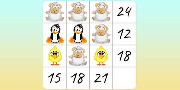 Matematik sınırlarını zorlayan bir bulmaca! Kuzu, pengeun ve civcivin değerini bulabilir misiniz?