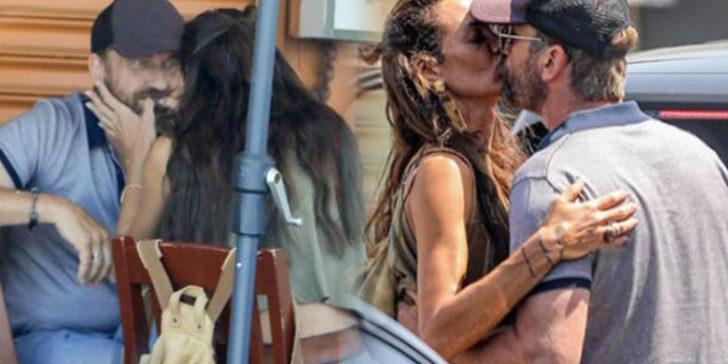 Gerard Butler ve Morgan Brown yemekte! Temizleyip öptü