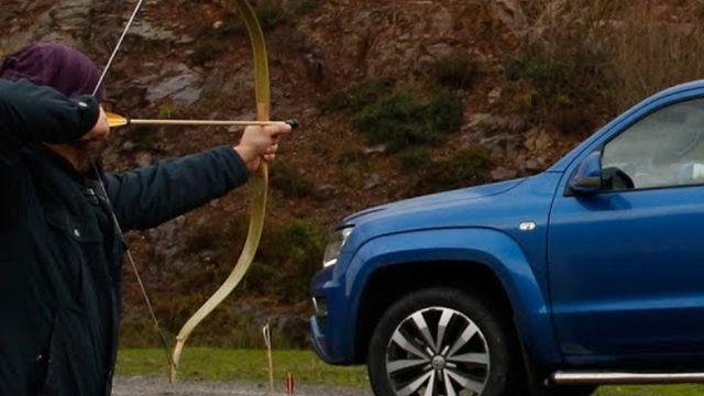 Ok ve yay ile Volkswagen Amarok avlanır mı?