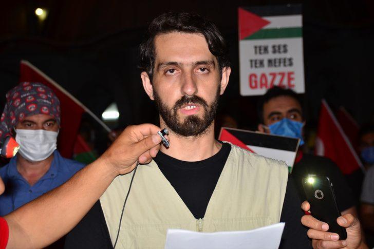 "Manavgat'ta ""İsrail'e lanet, Kudüs'e destek"" konvoyu"