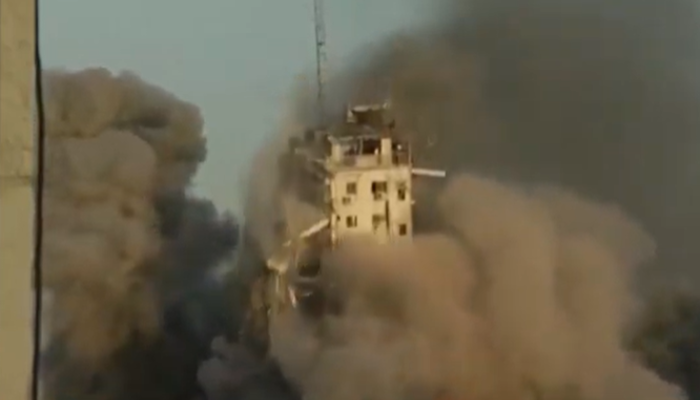 İsrail'in Gazze'ye saldırıları sürüyor! 14 katlı bina vuruldu