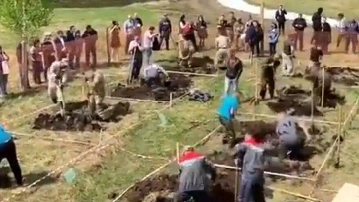 Rusya'da en hızlı mezar kazma yarışı