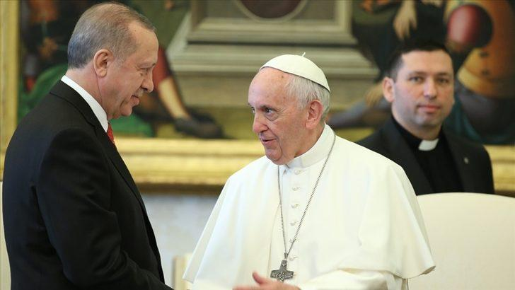 Erdoğan ve Papa'dan 'Filistin' görüşmesi