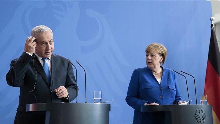Almanya Başbakanı Merkel, İsrail Başbakanı Netanyahu ile görüştü