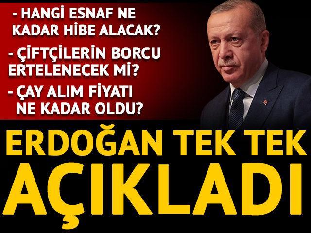 Son Dakika: Cumhurbaşkanı Erdoğan'dan esnafa hibe müjdesi