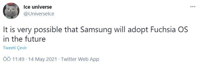 Samsung tweet'i