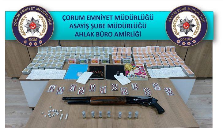 Çorum'da kumar oynatılan dernek binasındaki 7 kişiye para cezası
