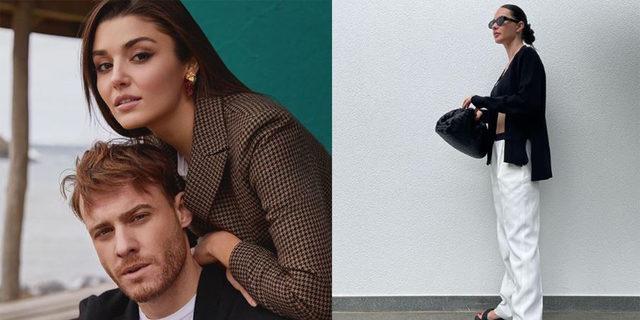 Yasemin Özilhan yakın arkadaşı Kerem Bursin'in yeni aşkı Hande Erçel'i takibe aldı!