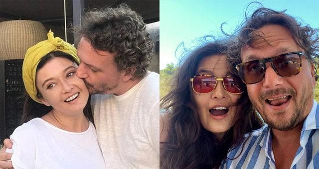 Aşka gelen Nurgül Yeşilçay'dan sevgilisi Necati Kocabay dudak dudağa poz!