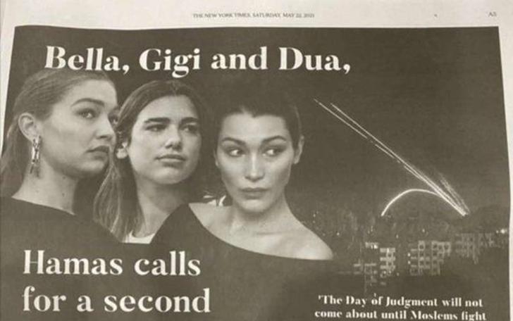 New York Times'tan Filistin saldırısını eleştiren Bella Hadid, Gigi Hadid ve Dua Lipa için tepki çeken ilan