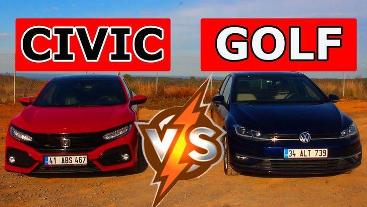 2019 Honda Civic VS 2019 Volkswagen Golf | Tarafını Seç!