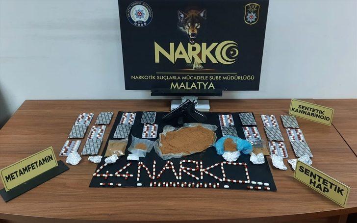 Malatya'da uyuşturucu operasyonlarında 3 zanlı tutuklandı
