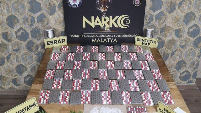 Malatya'da uyuşturucu operasyonunda 17 zanlı gözaltına alındı