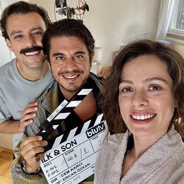 Özge Özpirinçci ve Salih Bademci'den 'İlk Ve Son' dizisi için objektif karşısına geçti!