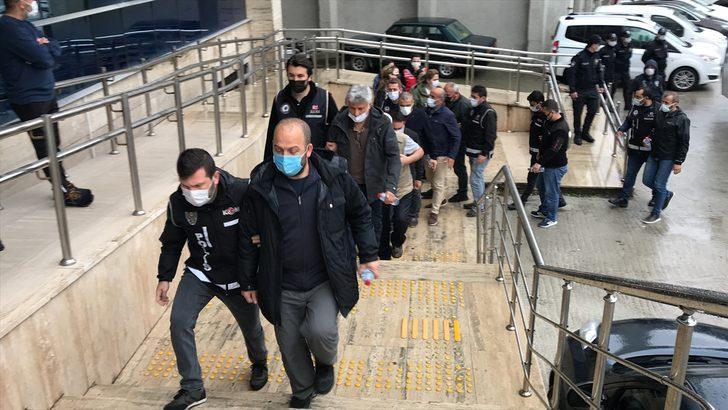 Zonguldak merkezli FETÖ/PDY operasyonunda yakalanan 14 şüpheliden 13'ü adliyede