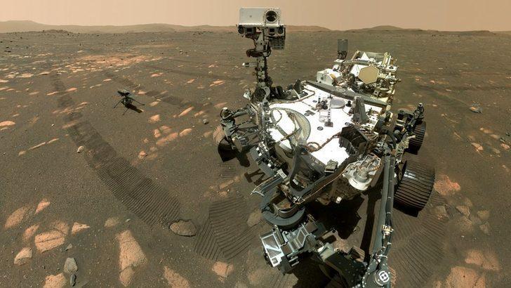Mars: NASA'nın uzay aracı Perseverance'ın Kızıl Gezegen'deki ilk 100 gününden fotoğraflar