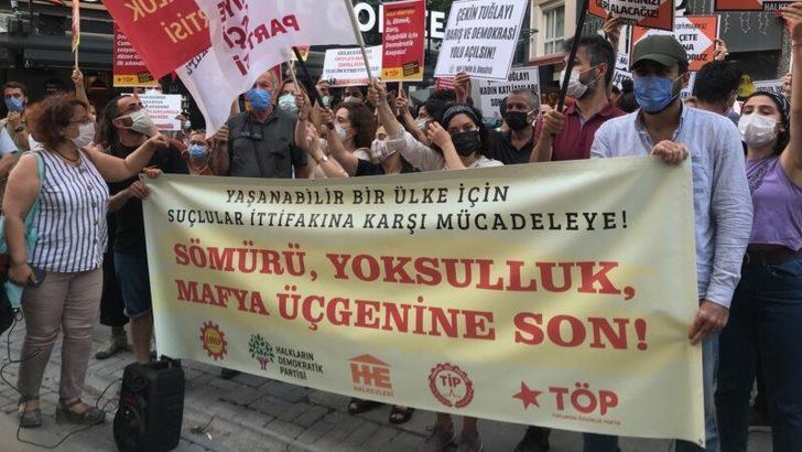İzmir'de 'Devlet-Siyaset-Mafya' Protestosu