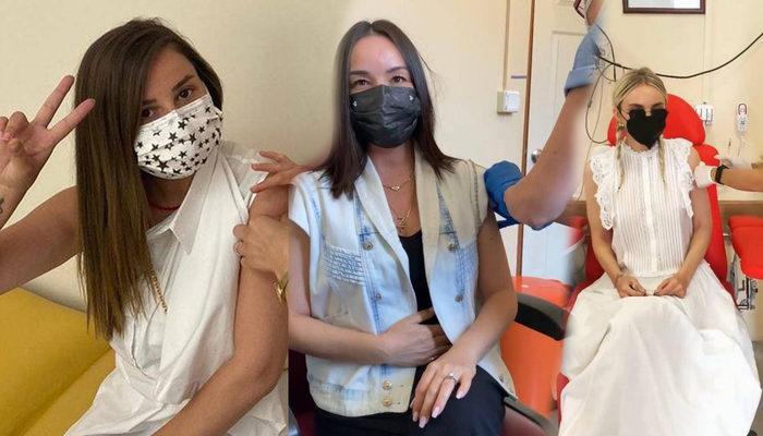 Ünlü şarkıcı ve oyuncuları aşı yaptırmaya başladı! Merve Özbey, Bengü, Gülşen ve Hazar Ergüçlü aşı paylaşımları!