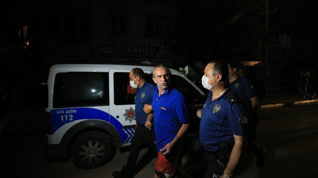 Antalya'da balkonunda yangın çıkardığı iddia edilen kişi gözaltına alındı