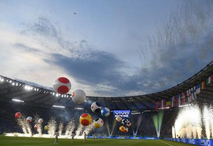 İşte EURO 2020 açılış töreninden renkli görüntüler