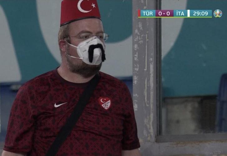 Türkiye-İtalya maçına damga vuran kare!