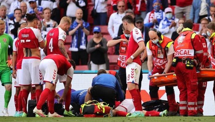 Danimarka - Finlandiya maçında korkutan anlar: Eriksen yerden kalkamadı! UEFA maçı erteledi