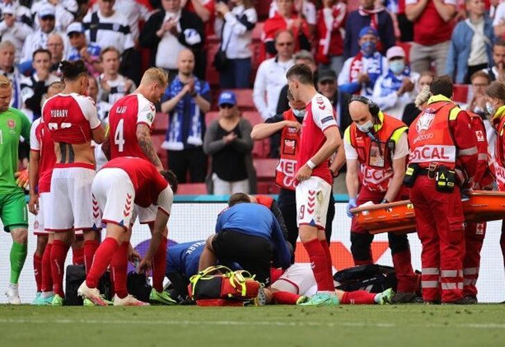 Danimarka - Finlandiya maçında korkutan anlar: Eriksen yerden kalkamadı