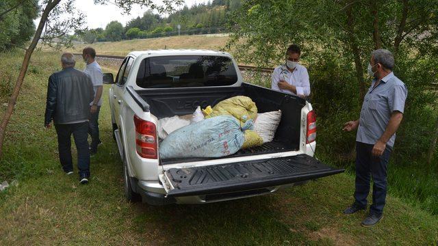 Afyonkarahisar'da evde kaçak toplanan 5 çuval salyangoz bulundu