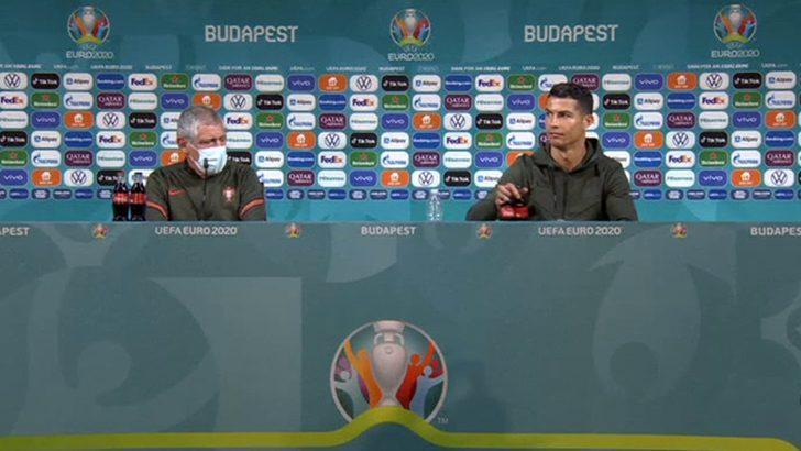 Ronaldo Coca-Cola şişelerini masadan aldı, şirketin hisseleri düştü