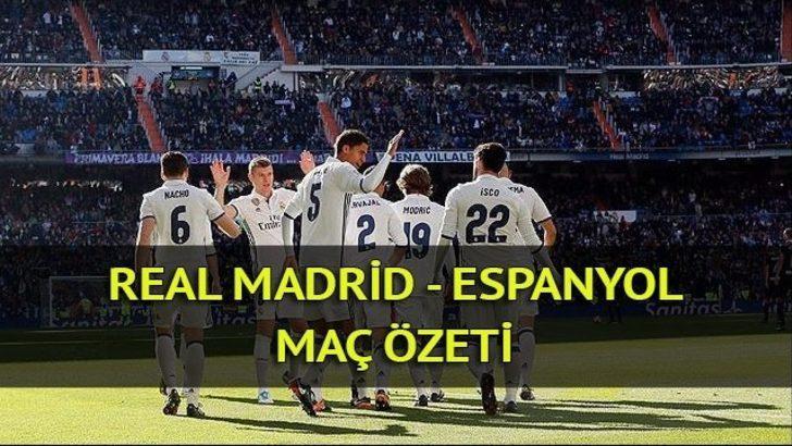Real Madrid - Espanyol maç özeti izle: Real Madrid, Espanyol'u Isco ile yıktı!