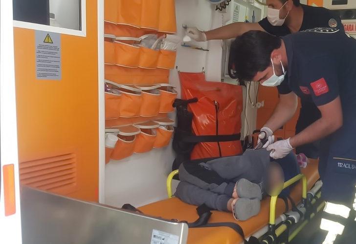 Kalçasına demir parçası battı! Hastaneye kaldırıldı