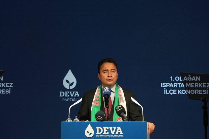 DEVA Partisi Genel Başkanı Babacan, Isparta'da partisinin ilçe kongresine katıldı: