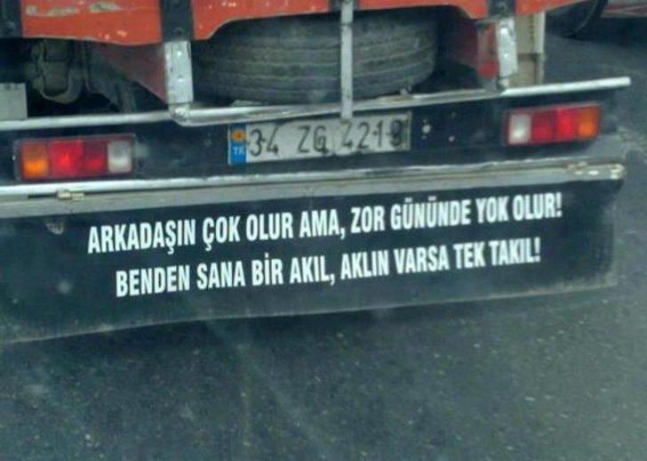 Atarlı giderli sözler! Resimli kamyon arkası sözler!