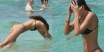 TikTok fenomeni minik bikinisiyle nefes kesti