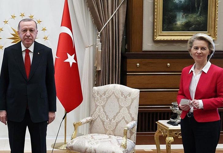 Son Dakika: Cumhurbaşkanı Erdoğan, AB Komisyonu Başkanı ile görüştü