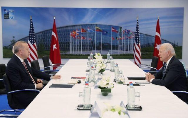 Cumhurbaşkanı Recep Tayyip Erdoğan ve ABD Başkanı Joe Biden