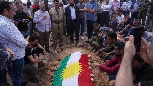Çatışmada hayatını kaybeden Peşmergeler için cenaze töreni yapıldı