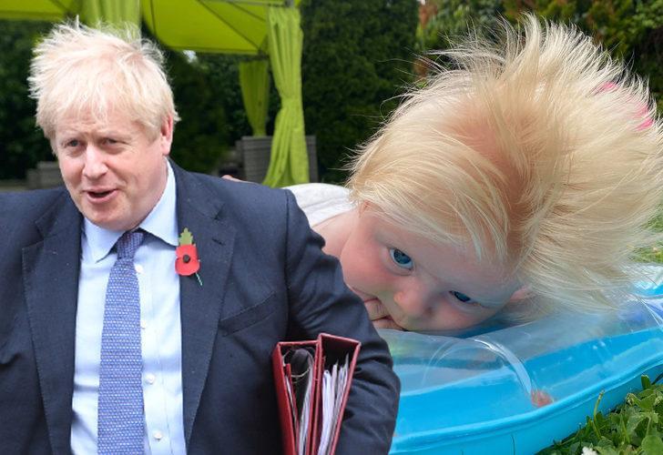 Gören bir daha bakıyor! Küçük 'Boris Johnson' saçlarıyla şaşkına çevirdi