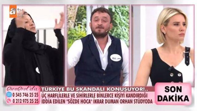 Esra Erol'da sözde hoca İkrar Duman Orhan hakkındaki iddialar