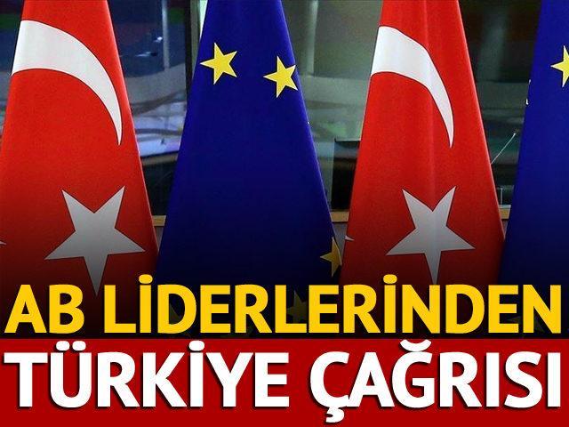 AB liderlerinden Türkiye çağrısı