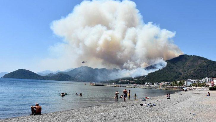 Marmaris'te bir kişinin hayatını kaybettiği orman yangını kontrol altına alındı