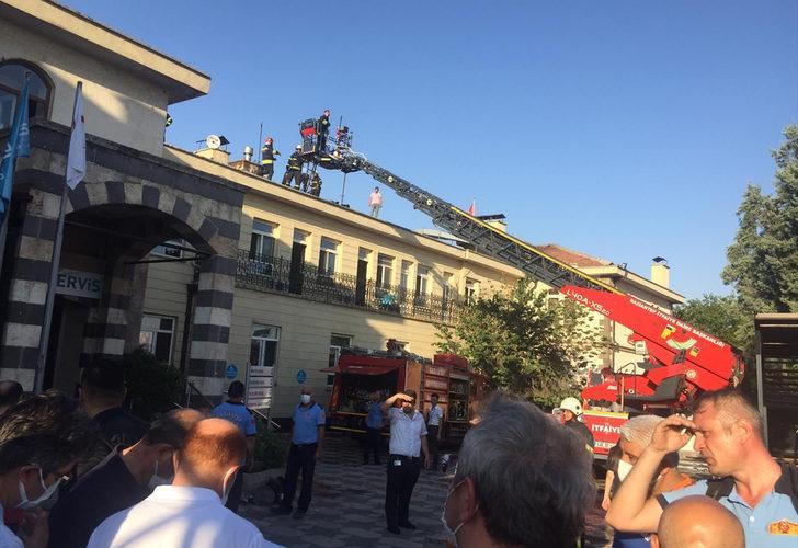 Gaziantep'te özel hastanede yangın